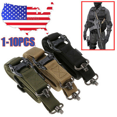 1-10PCS Retro Tactical Quick Detach 1 or 2 Point Multi Mission Rifle Sling Nylon