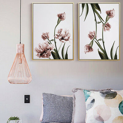 Elegant Green Plant Flower Art Wall Painting Picture Home Bookshop Decoration