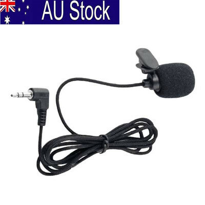 3.5mm Jack Clip-on Lapel Mini Lavalier Microphone Mic For IPhone/SmartPhone AU