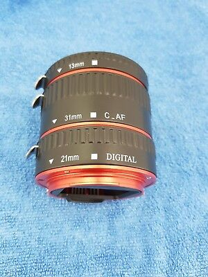 Auto Focus AF Macro Lens Extension Tube Ring Adapter for Canon EOS EF-S Lens