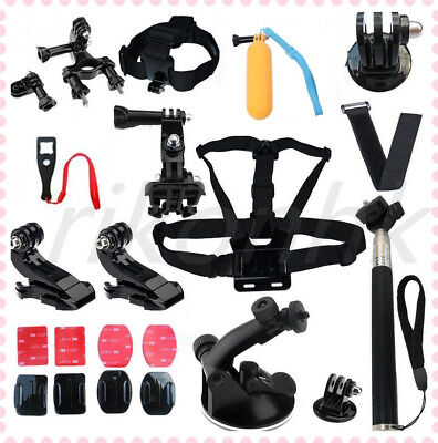 22 in 1 Pole Head Mount Strap für GoPro Hero 2 3 + 4 Sj4000 Aktion Zubehör Kit