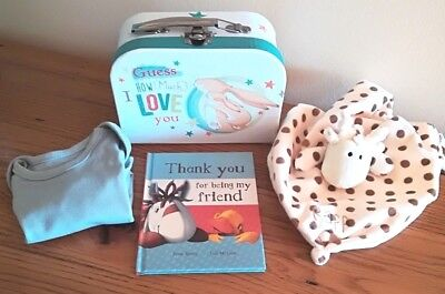 Guess How Much I Love You Gift Case, Baby Boy, Book, Raff Blankee, Body Suit