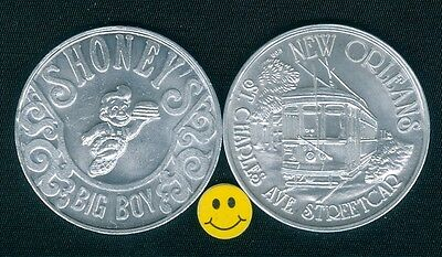 SHONEY'S BIG BOY RESTAURANT Token ( Streetcar ) New Orleans Mardi Gras Doubloon