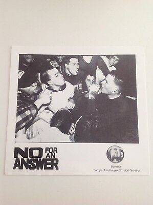 No For An Answer Promo Pic Revelation sxe Straight Edge Youth Of Today Chain Of