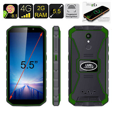 """5.5"""" HD 4G Rugged Android 8.1 Smartphone MTK6739 Quad Core Unlocked Green Phone"""