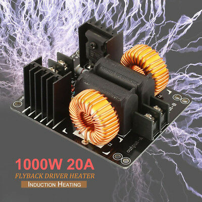 Metal 1000W ZVS 20A Low Voltage DC12-30V Induction Heating Module Board Durable