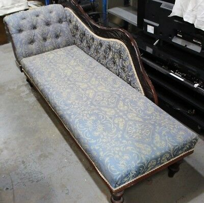 Carved 6ft Floral Embroidered Long Chaise Longue Day Sofa Settee - 250