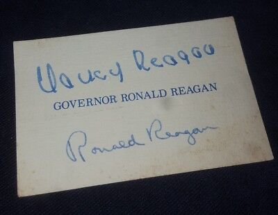 AUTOGRAPH -Ronald Reagan - Governor - President - Actor - Signed Business Card