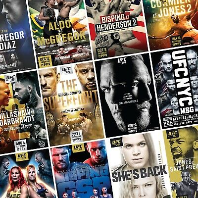 UFC Fight Posters PHOTO Print POSTER Prints MMA Conor McGregor UFC 158-Present