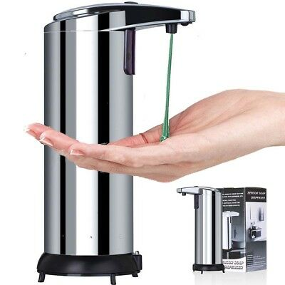 Stainless Steel Wall Mounted Shower Soap Shampoo Gel Liquid Automatic Dispenser