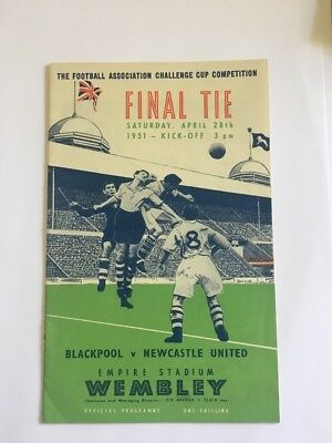 Blackpool v Newcastle United 1951 FA Cup Final programme