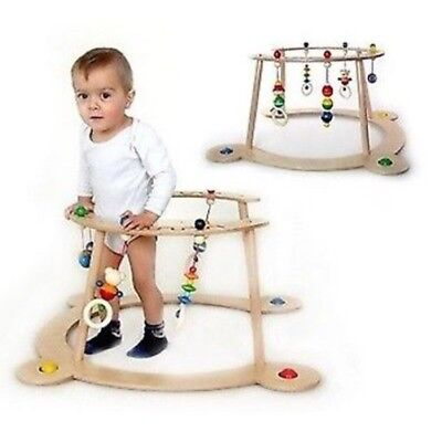 Hess Wooden Baby Toy Walker Gym on safe wheels GREAT CONDITION LOOK RRP£100