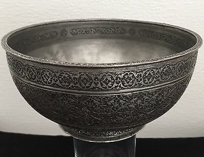 Schale 17 Jh. Meister Kupfer Safavid Persian Antique Copper Bowl islamic Art