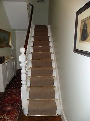 x24  french antique solid brass stair fittings unrestored, unique and very rare.