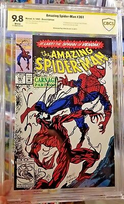 Amazing Spider-Man 361 9.8 Carnage White Pages Signed Stan Lee CBCS not CGC
