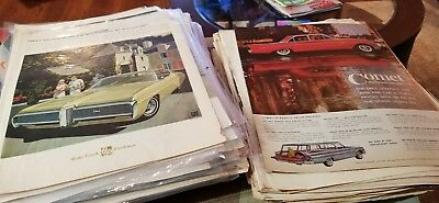 VTG Large Lot of Automobile Auto Car Truck Misc  Magazine Ad Clippings.