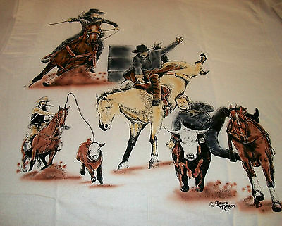 "American Sport Horse T-shirt  "" Natural "" Medium ( 38 ~ 40 )"