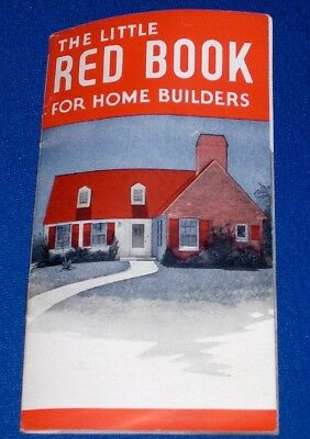 Garlinghouse Little Red Book for Home Builders c1930s Floor Plans Architecture