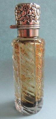 Antique Gorham Sterling Top Glass Perfume Bottle Scent Vial
