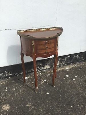 Stunning Demi Lune French Louis XV Style Commode Occasional Table