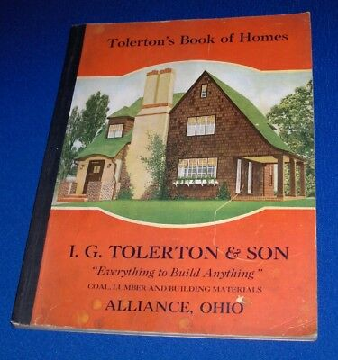 Tolertons Book of Homes Catalog 1926 House Floor Plan Architecture Alliance Ohio