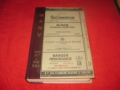 1985 Waynesboro Virginia,telephone Directory,phone Book Hardbound