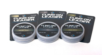 Nash Cling-On 40lb Unleaded Leader Material Carp Fishing All Colour New