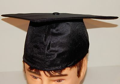 Lot Of 5 Gaspard Black Shiny Graduation Cap Hats School