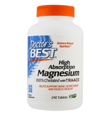 Doctor's Best, Magnesium, High Absorption, 100% Chelated, 240 Tablets
