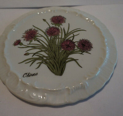 Vintage Picture of  Chives hanging china wall decoration