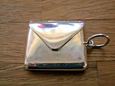 Beautiful Victorian Style Hallmarked Sterling Silver Envelope Stamp Case Holder