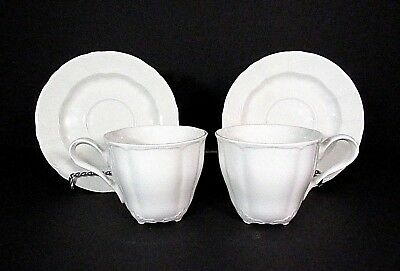 Nikko China Supreme .. Regal .. Set Of 2 .. Footed Cups With Saucers