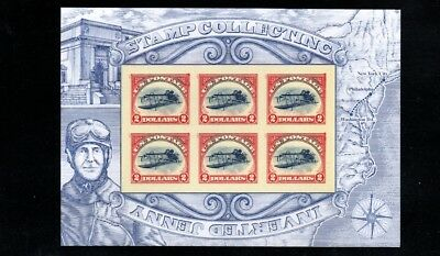 $2.00 Inverted Jenny Souvenir Sheet of 6