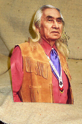 Chief Dan George Native American Actor Rare Photo, Beautiful Color Standee 10.5""