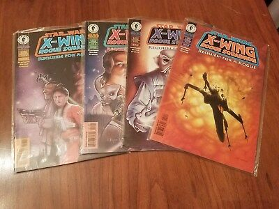 Requiem For a Rogue Star Wars Set of 4 1997 X Wing Rogue Squadron Comic Books