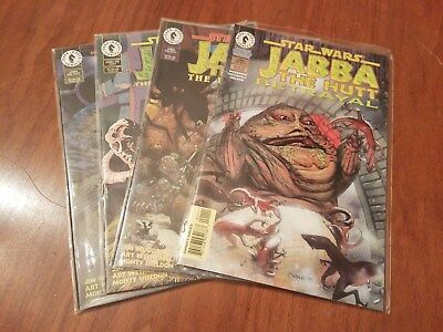Jabba The Hutt Set of 4 Star Wars Comic Books Gaar Suppoon Betrayal NM