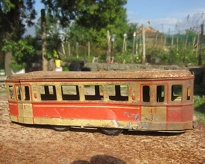 "Made in Germany  9+"" Antique vintage  old tin toy, ⚽ train?"