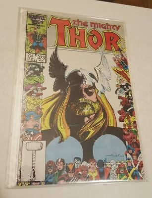 The Mighty Thor #373 NM, Beard Awesome, Marvel 25th Anniversary Cover