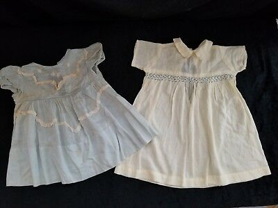 2 Vintage '30s '40s Baby Doll Frock Dress Gown (1) Blue (1) Yellow NoRsV