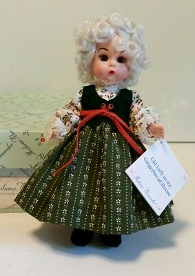 """~MADAME ALEXANDER DOLL 8"""" OLD LADY IN THE GINGERBREAD HOUSE with BOX"""
