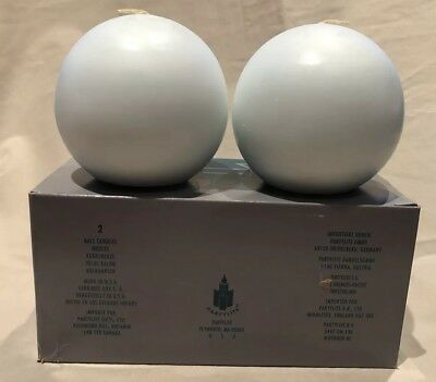 "Two Partylite Honeydew/Mint 3"" Ball Candles - NIB Q3652"