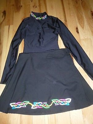 Celtic Creations Irish Dancing Dance Wrap Skirt and Leotard  GIRLS Size XL