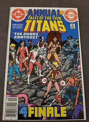 Tales of the Teen Titans Annual #3 NM+ WP! DEATH of TERRA! DEATHSTROKE!