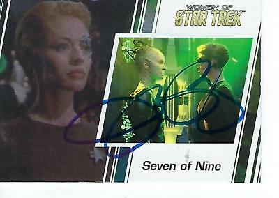 Jeri Ryan Signed 2017 Women Of Star Trek #88 - Seven Of Nine