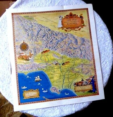The Old Spanish and Mexican Ranchos Map of Los Angeles County 20x24