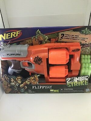 NERF Zombie Strike Flipfury - NEW in Box - Double Rotating Drums Fires 12 Darts