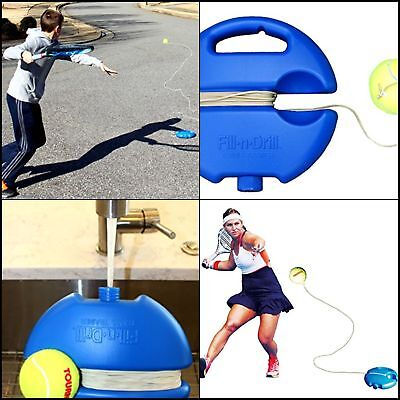 Tourna Fill & Drill Trainer portable tennis training aid hit and comes back ball