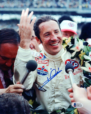 MARIO ANDRETTI SIGNED AUTOGRAPHED 8x10 PHOTO AUTO RACING LEGEND BECKETT BAS