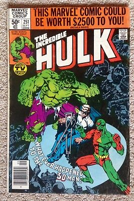 Incredible Hulk #251 (1980)!  What Ever Happened To The 3D Man!  PRICED TO SELL!