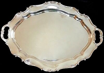 "Large Reed & Barton Sterling ""Hampton Court"" butler's tray"